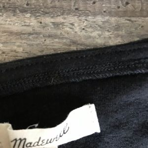 Madewell Tops - Madewell Black long sleeve shirt with tie